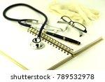 blue doctors stethoscope it's a ...   Shutterstock . vector #789532978
