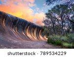 sunset at wave rock near the... | Shutterstock . vector #789534229