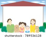 family and my home frame | Shutterstock .eps vector #789536128