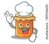 chef jam character cartoon style   Shutterstock .eps vector #789536650