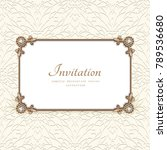 vintage card with diamond... | Shutterstock .eps vector #789536680
