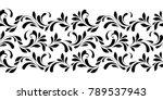 floral seamless border. endless ... | Shutterstock .eps vector #789537943