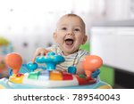 portrait of baby toddler in... | Shutterstock . vector #789540043