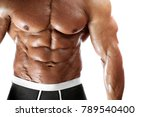 closeup of male fitness man... | Shutterstock . vector #789540400