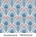 vector seamless pattern with... | Shutterstock .eps vector #789542104