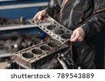 sealing gasket in hand. the... | Shutterstock . vector #789543889