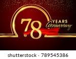 seventy eight years birthday... | Shutterstock .eps vector #789545386