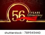 fifty six years birthday... | Shutterstock .eps vector #789545440