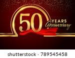 fifty years birthday... | Shutterstock .eps vector #789545458