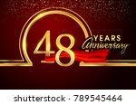 forty eight years birthday... | Shutterstock .eps vector #789545464