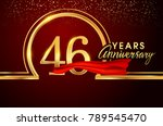 forty six years birthday... | Shutterstock .eps vector #789545470