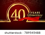 forty years birthday... | Shutterstock .eps vector #789545488