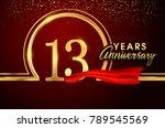 thirteen  years birthday... | Shutterstock .eps vector #789545569