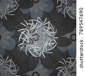 floral pattern with abstract... | Shutterstock .eps vector #789547690