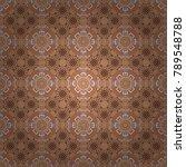 mandala abstract colorful gray  ... | Shutterstock .eps vector #789548788