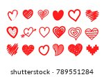 sketch style hearts collection... | Shutterstock .eps vector #789551284