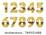golden numbers set.vector... | Shutterstock .eps vector #789551488