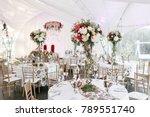 interior of a wedding tent... | Shutterstock . vector #789551740