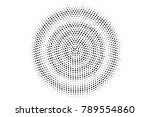 black and white dotted halftone ... | Shutterstock .eps vector #789554860