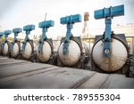 steam curing autoclave | Shutterstock . vector #789555304