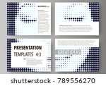 set of business templates for...   Shutterstock .eps vector #789556270
