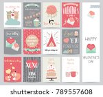 valentine's day collection for... | Shutterstock .eps vector #789557608
