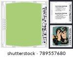 frame for scrapbook  banner ... | Shutterstock .eps vector #789557680