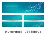 set of abstract banner design ... | Shutterstock .eps vector #789558976