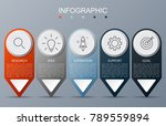 infographic template with arrow ... | Shutterstock .eps vector #789559894