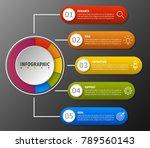 infographic design marketing... | Shutterstock .eps vector #789560143