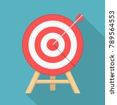 red target with arrow  flat... | Shutterstock .eps vector #789564553