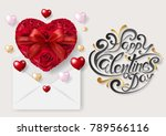 valentine's day greeting card... | Shutterstock .eps vector #789566116