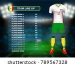 senegal soccer jersey kit with... | Shutterstock .eps vector #789567328