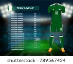nigeria soccer jersey kit with... | Shutterstock .eps vector #789567424