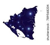 map of nicaragua   blue... | Shutterstock .eps vector #789568204