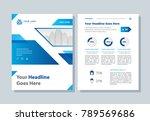 annual report  broshure  flyer  ... | Shutterstock .eps vector #789569686