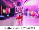 glass with cocktail   booze in... | Shutterstock . vector #789569914
