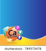 calcium in milk infographic... | Shutterstock .eps vector #789573478