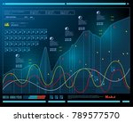 data analysis  visualization... | Shutterstock .eps vector #789577570