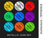 police arrest 9 color metallic... | Shutterstock .eps vector #789584818