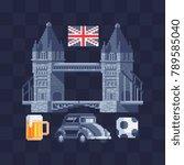 symbols united kingdom. pixel... | Shutterstock .eps vector #789585040
