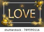 happy valentine's day vector... | Shutterstock .eps vector #789590116
