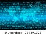 binary circuit board future... | Shutterstock .eps vector #789591328