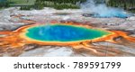 Panoramic view on Grand Prismatic Spring in Yellowstone National Park.