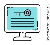 keyword density seo vector icon.... | Shutterstock .eps vector #789593158