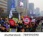 seoul  south korea  december 23 ... | Shutterstock . vector #789593590