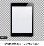 new realistic tablet pc... | Shutterstock .eps vector #789597364