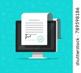 online electronic documents on... | Shutterstock .eps vector #789598186
