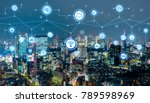 smart city concept. iot... | Shutterstock . vector #789598969