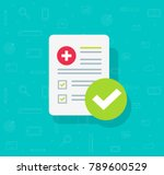 medical form list with results... | Shutterstock .eps vector #789600529